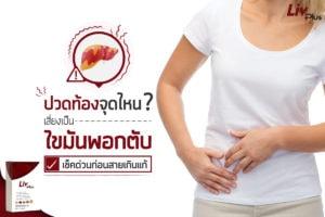 ปวดท้องจุดไหน เสี่ยงเป็นไขมันพอกตับ เช็คด่วนก่อนสายเกินแก้